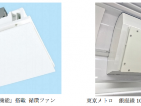 三菱電機、「ヘルスエアー機能」を搭載した循環ファンを東京メトロ銀座線車両に試験搭載