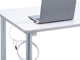 サンワサプライ、ノートパソコン向けのシリンダ錠と一体型のセキュリティワイヤー「SLE-35S-1」を発売