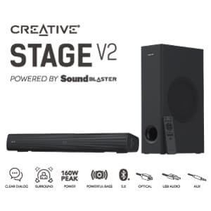 クリエイティブメディア、サウンドバー「Creative Stage V2」を直販限定で発売