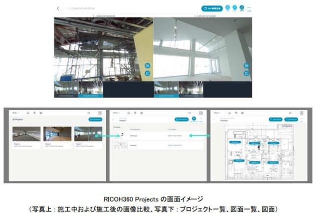 リコー、建設現場の状況共有を効率化する「RICOH360 Projects」を提供開始