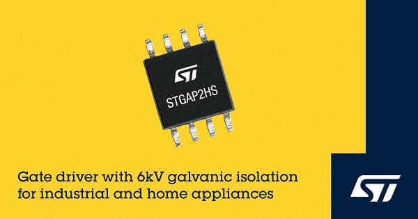 STマイクロ、小型のガルバニック絶縁型高耐圧ゲート・ドライバ「STGAP2HS」を発表