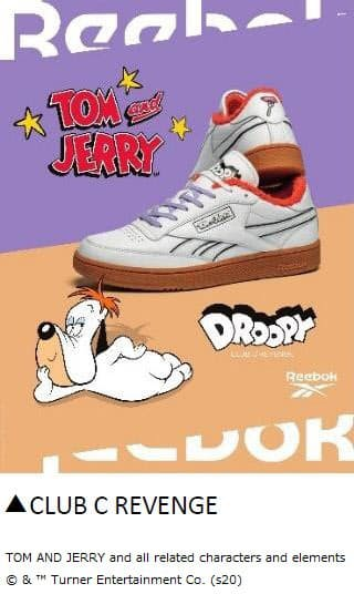 リーボック、「Tom&Jerry(トムとジェリー)」とのコラボ第2弾を発売