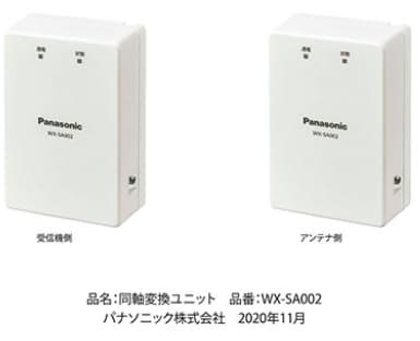 パナソニック、「同軸変換ユニット『WX-SA002』」を発売