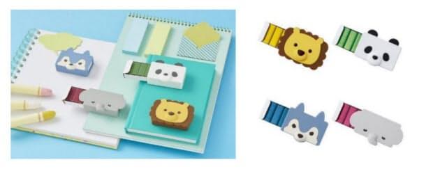 マックス、シリコン製ホッチキス針ケース「りくちのいきもの」シリーズを数量限定販売