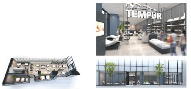 テンピュール・シーリー・ジャパン、関西エリアの旗艦店・テンピュール大阪ショールームをオープン