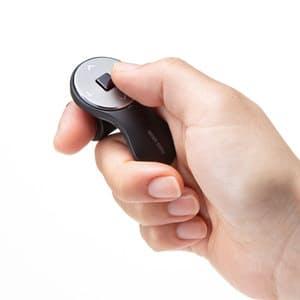 サンワサプライ、指に装着して使えるリングマウス「MA-RING2BK」