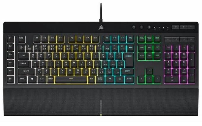 リンクス、IP42防滴ゲーミングキーボード CORSAIR K55 RGB PRO