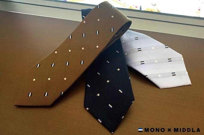 トンボ鉛筆、コラボブランド「MONO×MIDDLA」からネクタイ