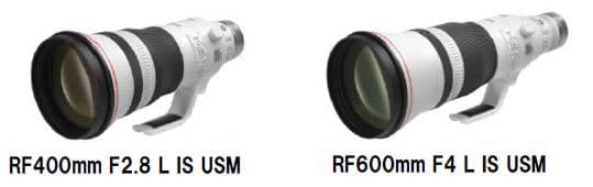 キヤノン、「RF400mm F2.8 L IS USM」「RF600mm F4 L IS USM」