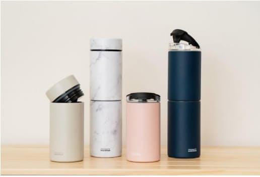 ライフオンプロダクツ、「すみずみまで洗えるステンレスボトル 2種のフィルターとタンブラーキャップ付」