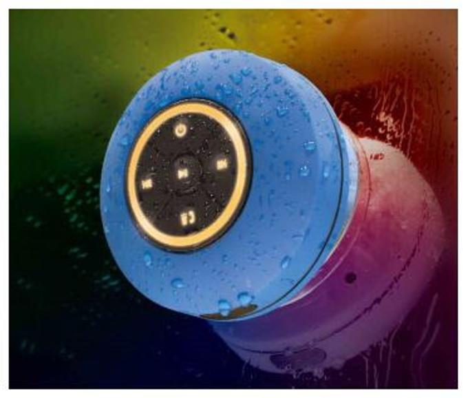 ライソン、防水規格IPX4対応でライトを変更できる「ウォータープルーフ ライティングスピーカー」