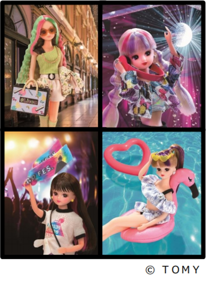 タカラトミー、着せ替え人形「リカちゃん」の「#Licca(ハッシュタグリカ)」シリーズ第2弾の商品4種