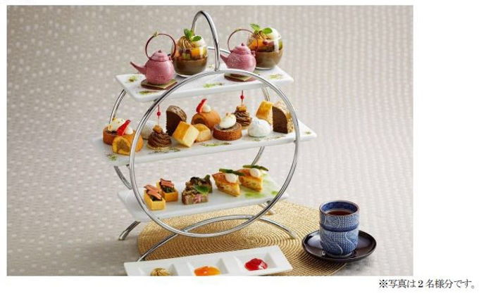 ロイヤルパークホテル、「森乃園」とコラボレーションした「ほうじ茶アフタヌーンティー」