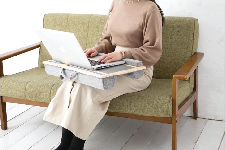 ナカバヤシ、場所を選ばずPC・タブレットを操作できる 「ノートPC・タブレット用 ひざ上テーブル」