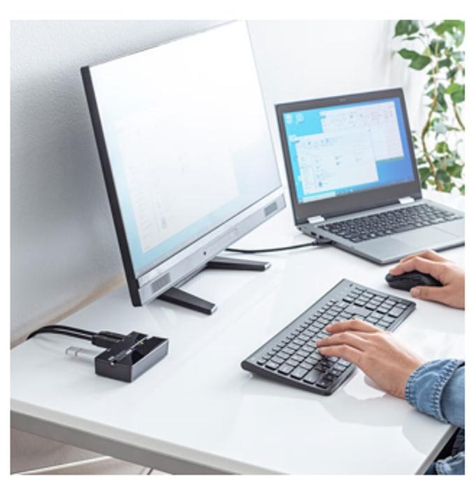 サンワサプライ、複数のパソコンでキーボード・マウスなどのUSB機器を簡単に切り換え・共有できるUSB切替器