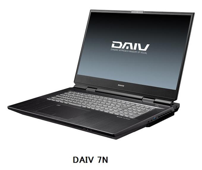 マウスコンピューター、パソコンブランド「DAIV」のフラッグシップモデル「DAIV 7N」
