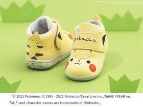 アシックスジャパン、ポケモン公式ベビーブランド「モンポケ」のピカチュウをイメージした子ども靴