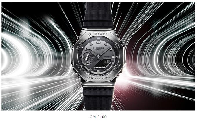 カシオ、八角形のメタルベゼルを採用した「G-SHOCK」の新製品「GM-2100」