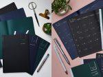 パイロット、濃い色の紙を使ったノート・付箋・手帳の「クルールフォンセ」シリーズ