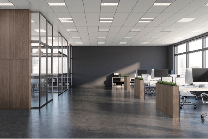 大建工業、ロックウール吸音板「ダイロートン 12mm グリッド」天井に新柄「SS柄」