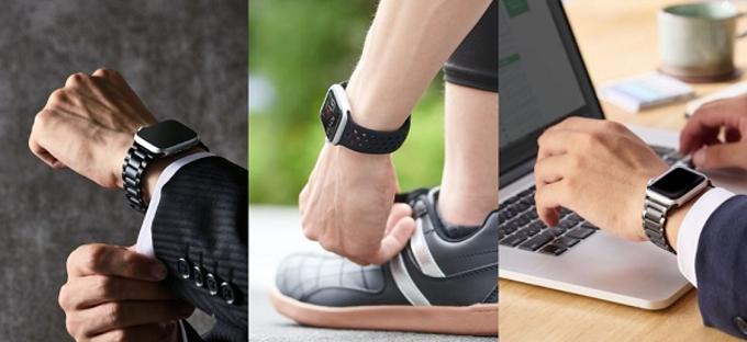エレコム、セラミックやシリコンなど3種類の素材から選べるApple Watch専用バンド