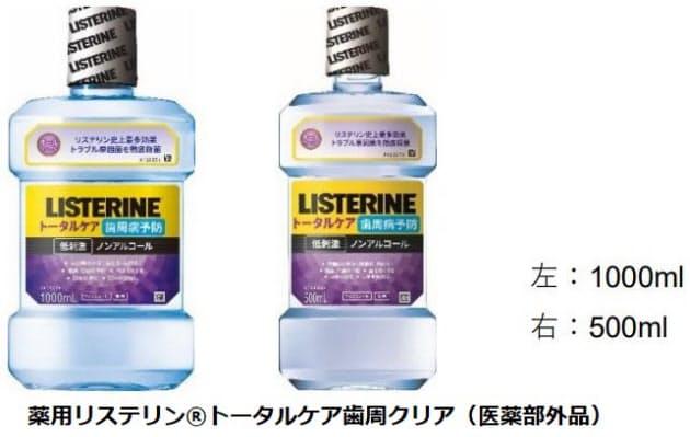 J&J、薬用マウスウォッシュ「薬用リステリン トータルケア歯周クリア」を発売
