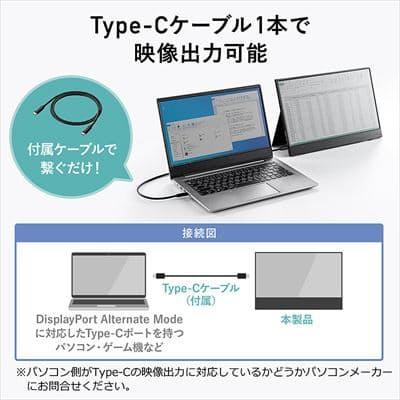 サンワサプライ、手軽に持ち運びができるType-C接続のモバイルモニター「400-LCD002」を発売