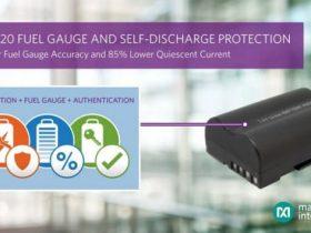 Maxim、連続した内部自己放電モニタリングおよび保護を備えたリチウムイオン残量ゲージICを発表