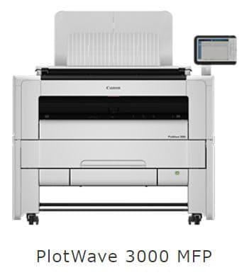 キヤノンMJなど、広幅デジタルモノクロ複合機 PlotWave 3000/3500/7500 を発売