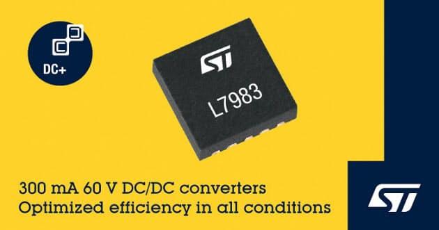 STマイクロエレクトロニクス、小型の同期整流式DC-DC降圧コンバータ「L7983」