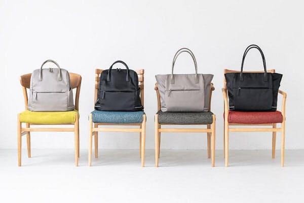 河淳、KEYUCAからマザーズバッグの機能性とビジネスシーンで使いやすいデザインを持ったトートとリュック