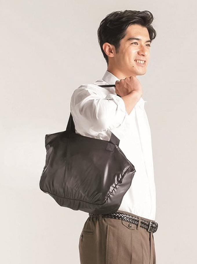 青山商事、買い物バッグに変化するジャケット「エコバッグジャケット」