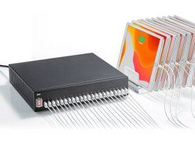 サンワサプライ、最大22台のモバイル機器を同時充電できるUSB充電器