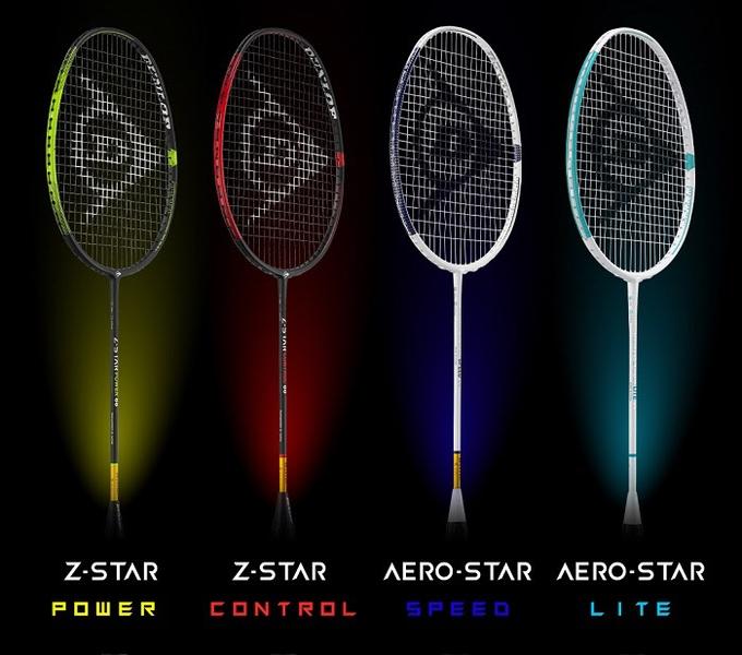 ダンロップスポーツ、バドミントンラケット「Z-STAR」シリーズと「AERO-STAR」シリーズ
