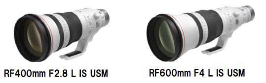 キヤノン、「RF400mm F2.8 L IS USM」「RF600mm F4 L IS USM」