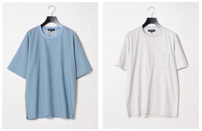 はるやま商事、ビジネス対応Tシャツ「リブ袖カットソー」「スビン綿 ジャケットインTシャツ」