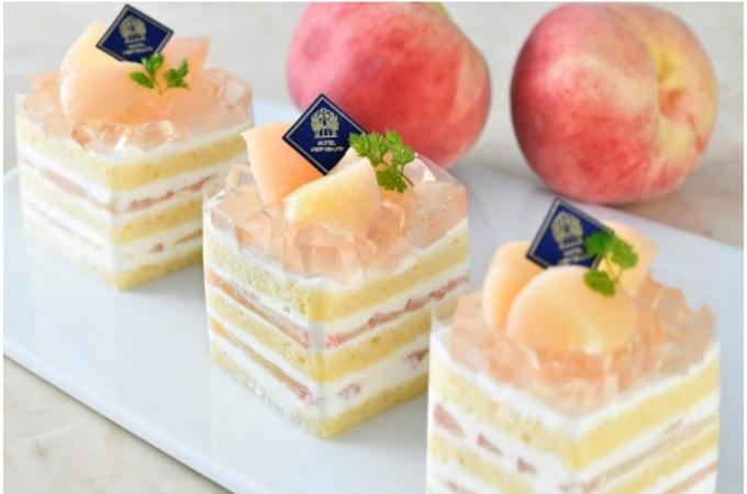 ホテルニューグランド、「桃のプレミアムショートケーキ」