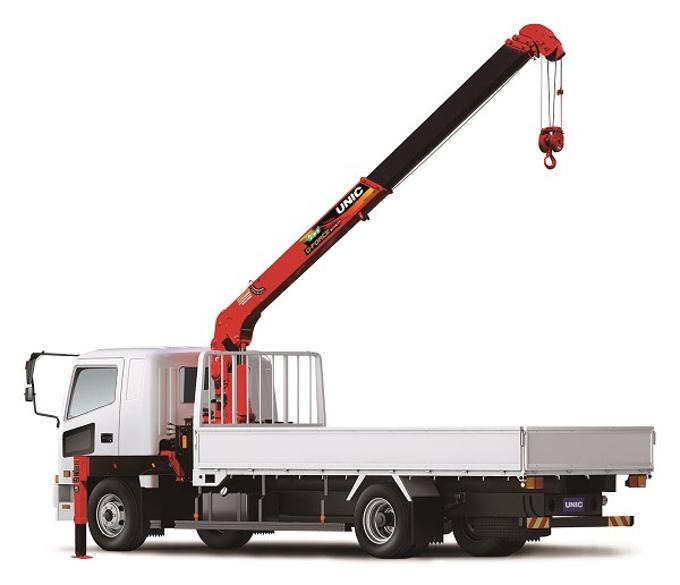 古河ユニック、中型トラック搭載型クレーン「ユニッククレーン 新型G-FORCE」