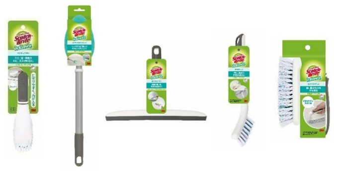 スリーエムジャパン、スコッチ・ブライト バスシャイン ブランドのハンディブラシなど7製品