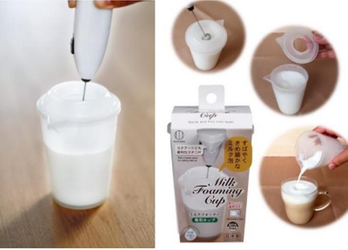 小久保工業所、カフェラテ用のミルクを泡立てやすく注ぎやすい「ミルクフォーマー専用カップ」