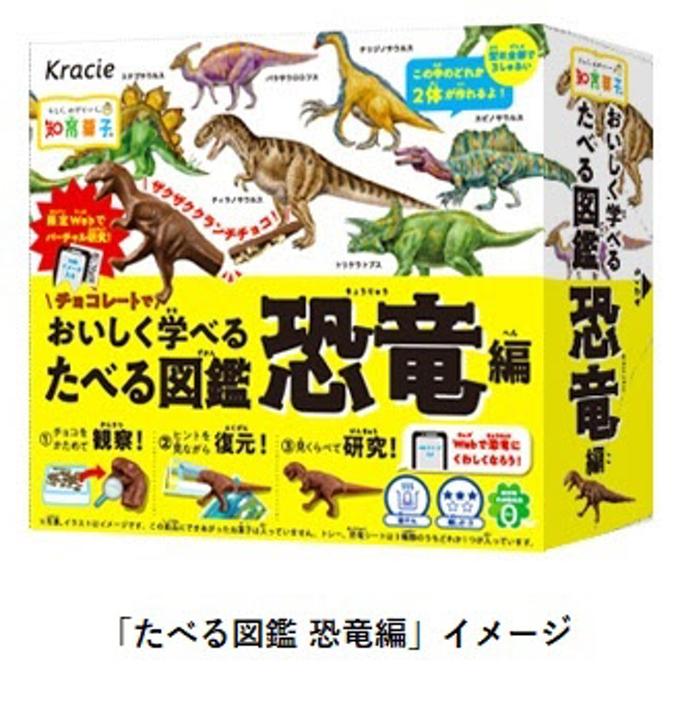 クラシエフーズ、知育菓子シリーズから恐竜学者の小林快次先生監修「たべる図鑑 恐竜編」