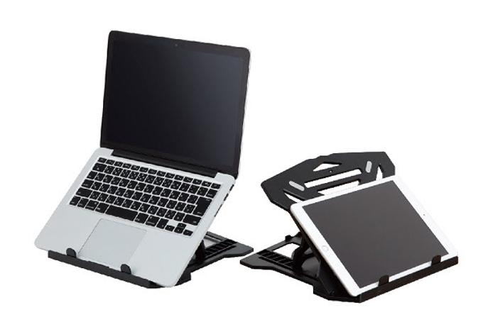 ナカバヤシ、8段階の角度調節可能な「ノートPC・タブレットスタンド 軽量タイプ」
