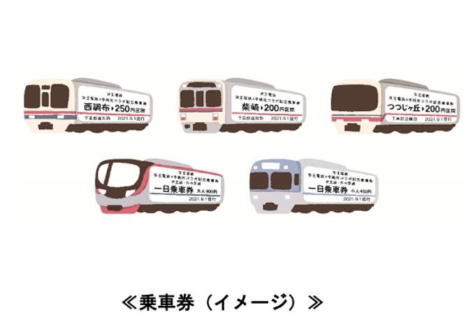 京王電鉄、「京王電鉄×手紙社コラボ記念乗車券」