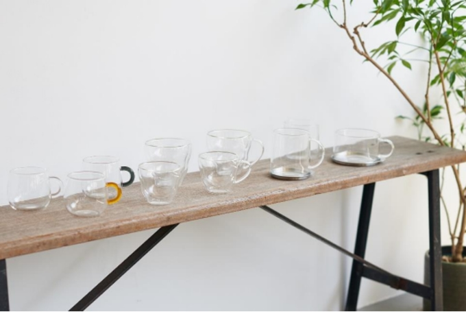 河淳、KEYUCAから「リプルシリーズ」の耐熱ダブルウォールと耐熱ガラスシリーズの新商品