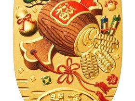 田中貴金属ジュエリー、純金小判の表面に美しい彩色を施した「純金小判 宝小槌 20g」