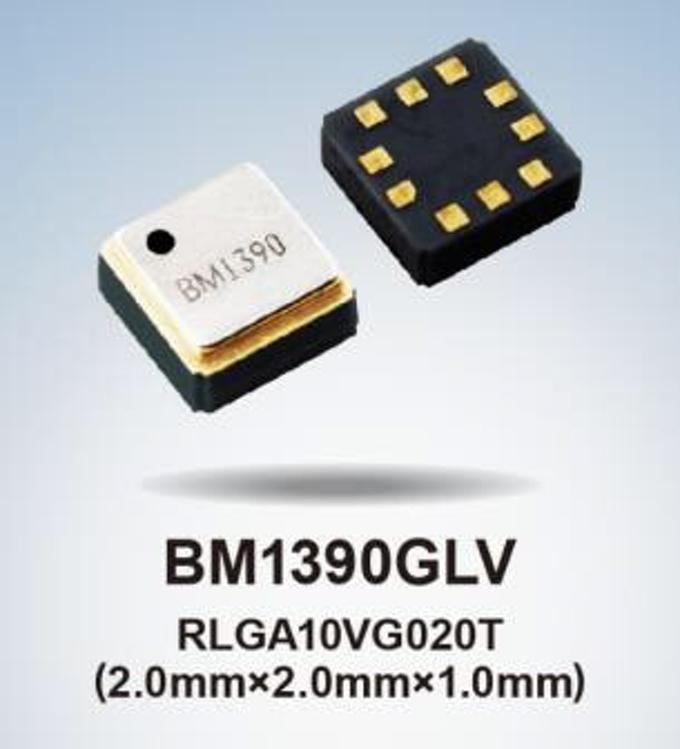 ローム、防水性能IPX8対応の小型・高精度気圧センサIC「BM1390GLV」