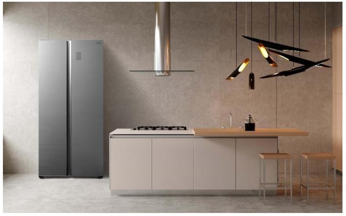アクア、庫内を縦に2分割したSide by Sideスタイルの冷凍冷蔵庫