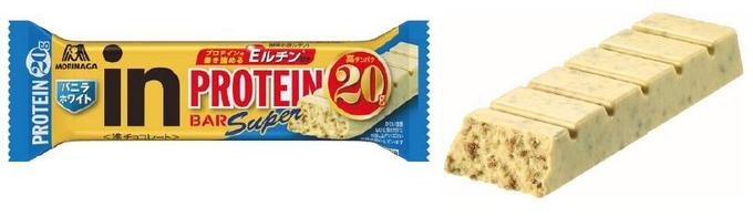 森永製菓、「inバープロテインSuper バニラホワイト」