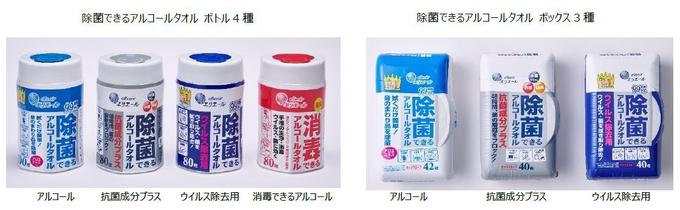 大王製紙、ウエットティシュー「除菌できるシリーズ」に「抗菌成分プラス」