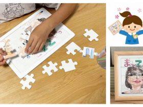 ナカバヤシ、絵を描けて飾れるパズルとフレームのセット「パズル&フレーム」
